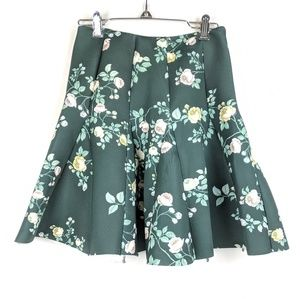 Lauren Conrad Runway Green Floral Circle Skirt